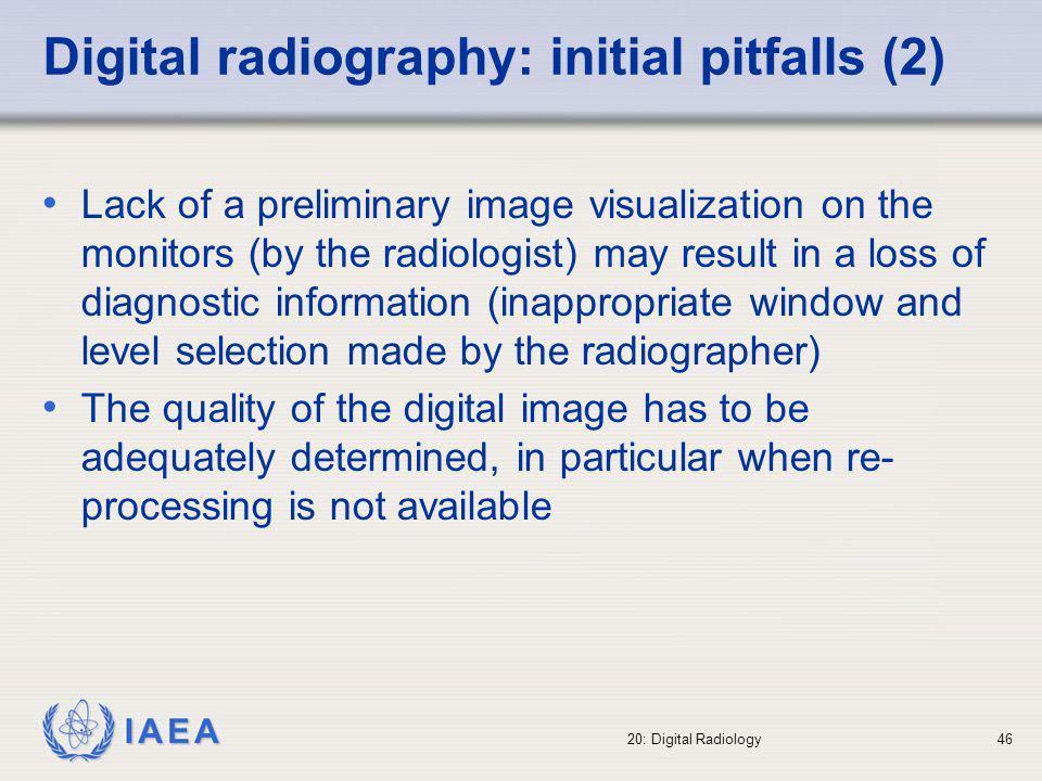 Digital radiography: initial pitfalls (2)