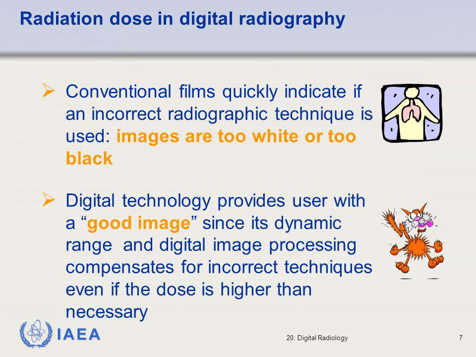 Radiation dose in digital radiography