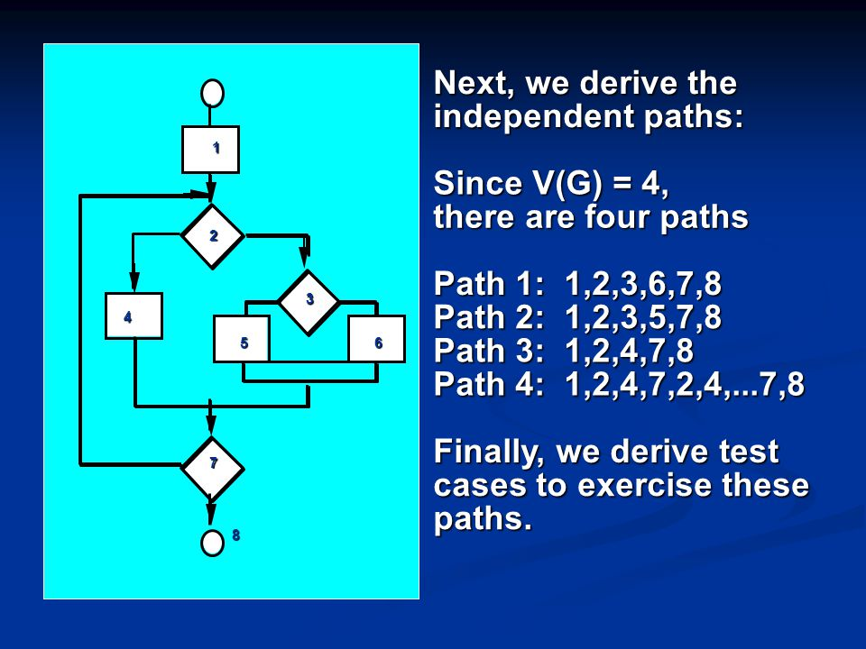 cases to exercise these paths.