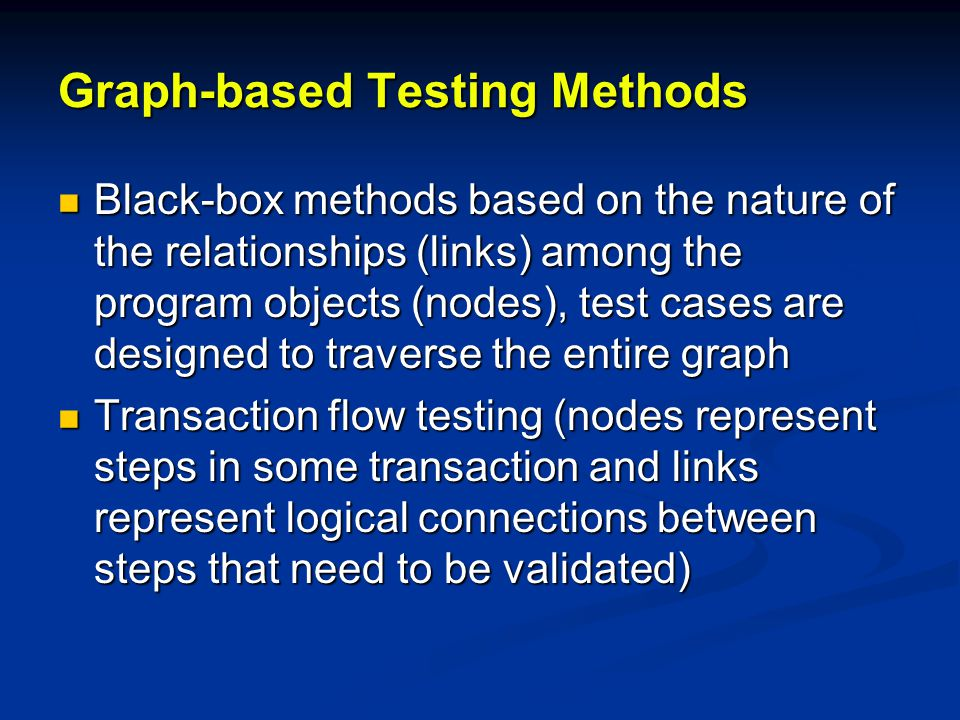 Graph-based Testing Methods