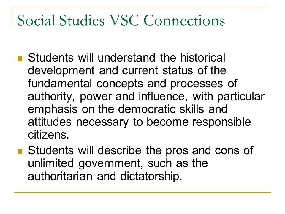 Social Studies VSC Connections