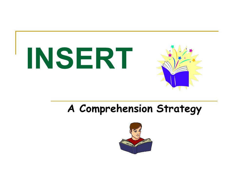 A Comprehension Strategy