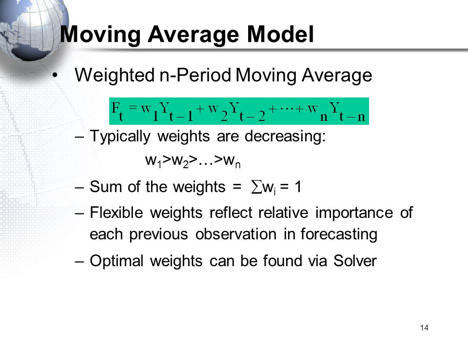 Moving Average Model Weighted n-Period Moving Average