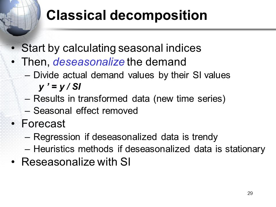 Classical decomposition