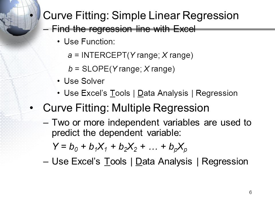Curve Fitting: Simple Linear Regression