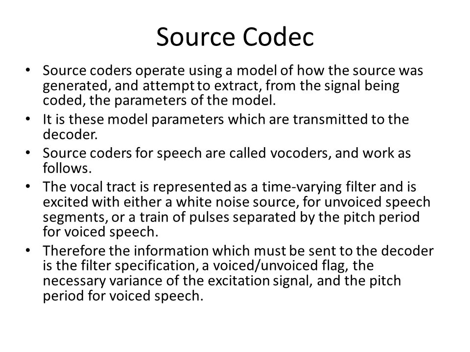 Source Codec