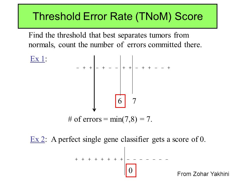 Threshold Error Rate (TNoM) Score