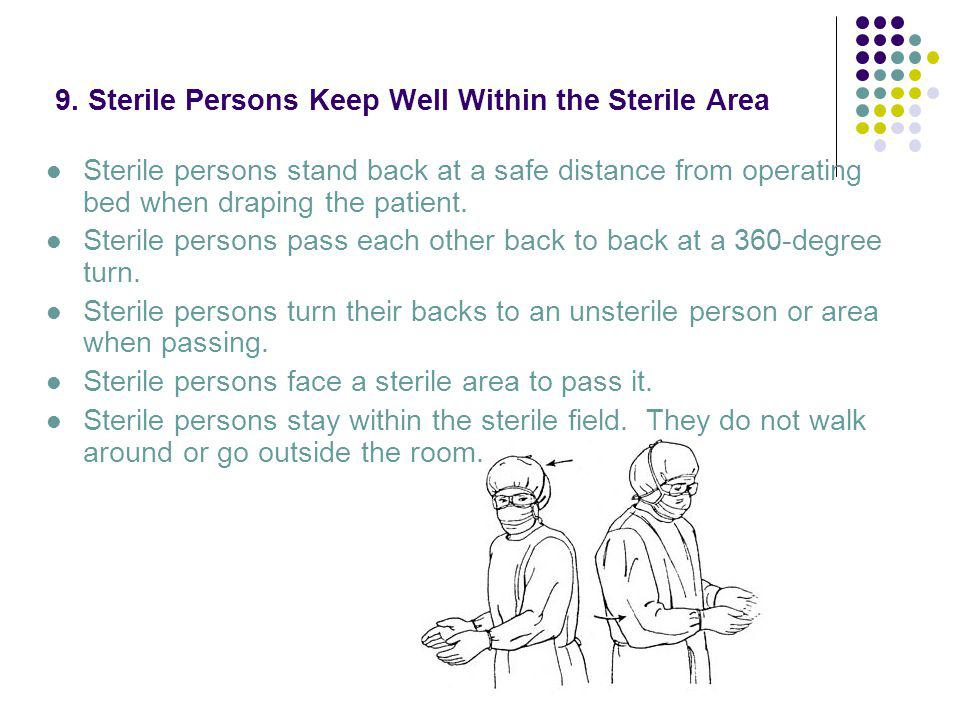 9. Sterile Persons Keep Well Within the Sterile Area