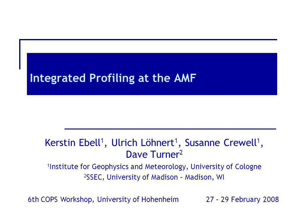 Integrated Profiling at the AMF