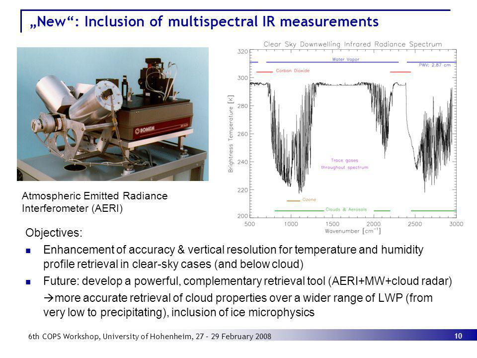 """""""New : Inclusion of multispectral IR measurements"""