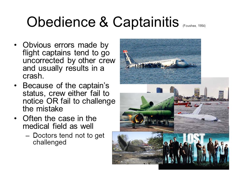 Obedience & Captainitis (Foushee, 1984)