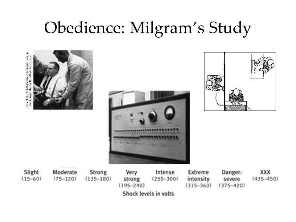 Obedience: Milgram's Study