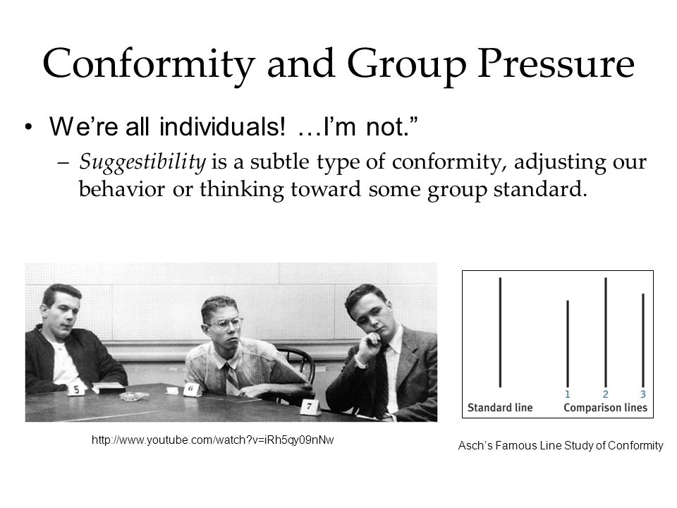Conformity and Group Pressure