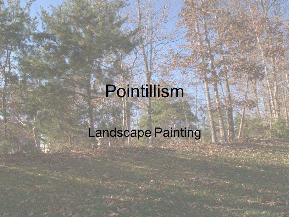 Pointillism Landscape Painting