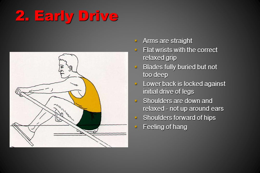 2. Early Drive Arms are straight
