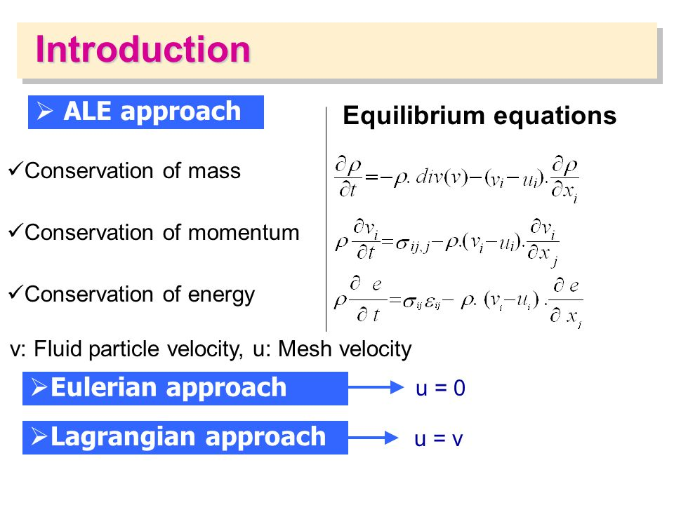 Equilibrium equations