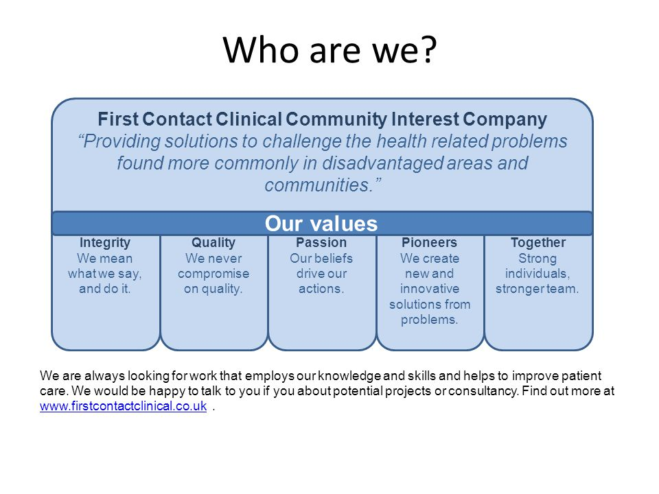 First Contact Clinical Community Interest Company