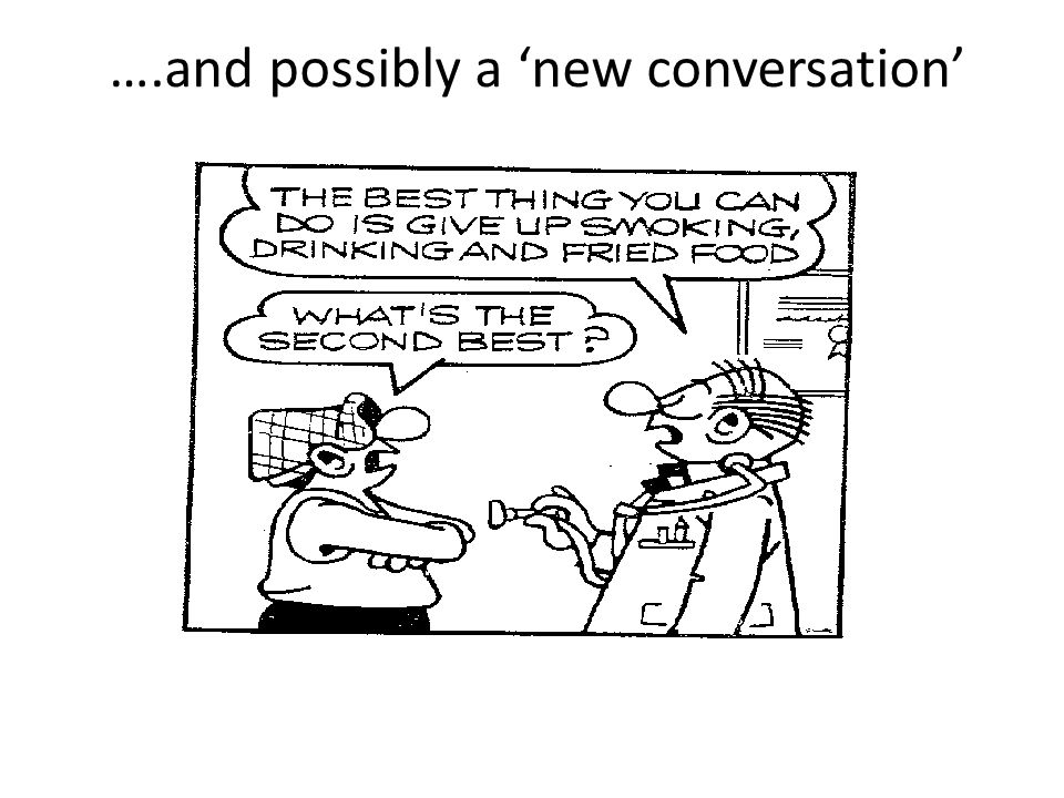 ….and possibly a 'new conversation'