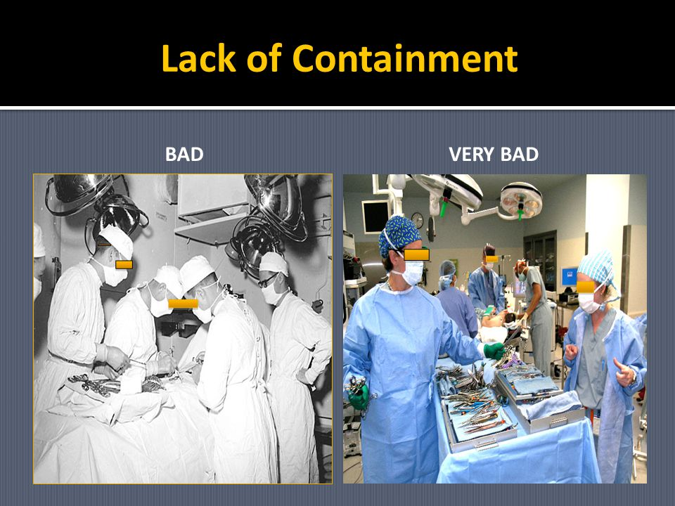 Lack of Containment BAD VERY BAD
