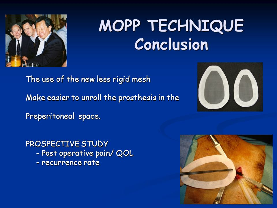 MOPP TECHNIQUE Conclusion