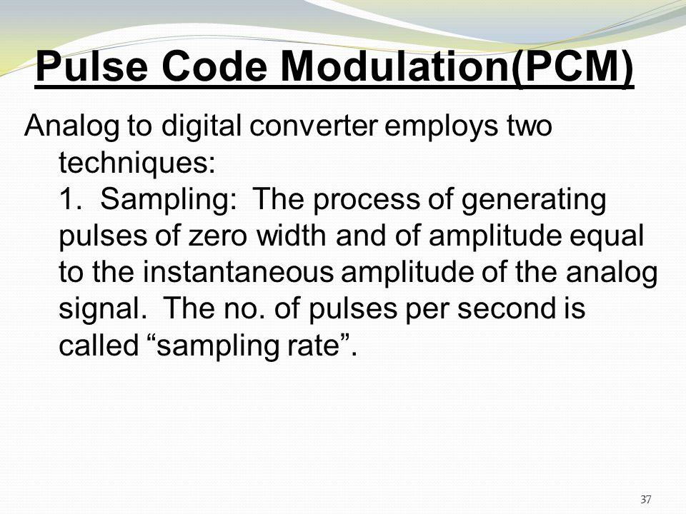 Pulse Code Modulation(PCM)