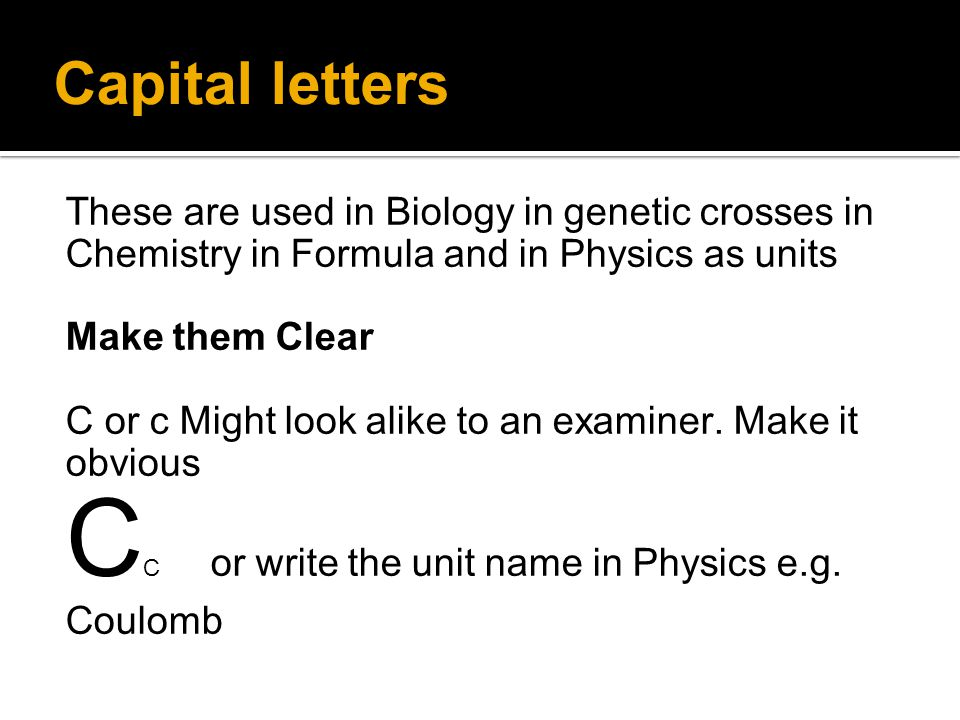 CC or write the unit name in Physics e.g. Coulomb