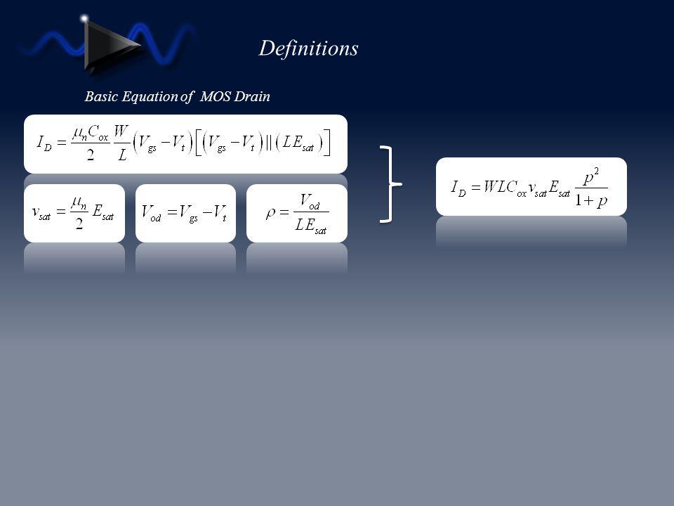 Basic Equation of MOS Drain