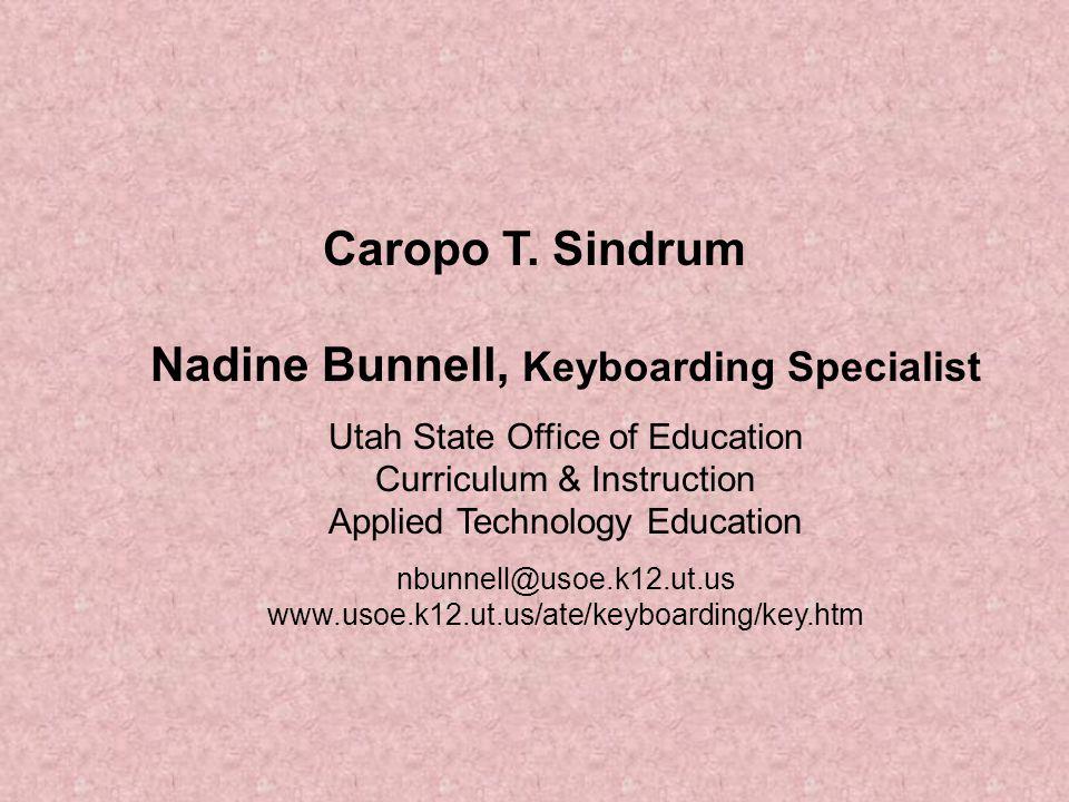 Nadine Bunnell, Keyboarding Specialist