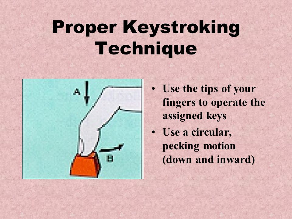 Proper Keystroking Technique