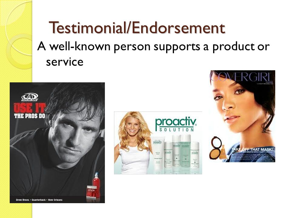 Testimonial/Endorsement