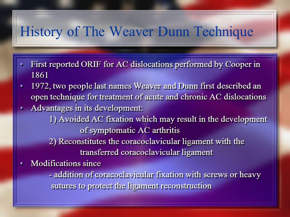 History of The Weaver Dunn Technique