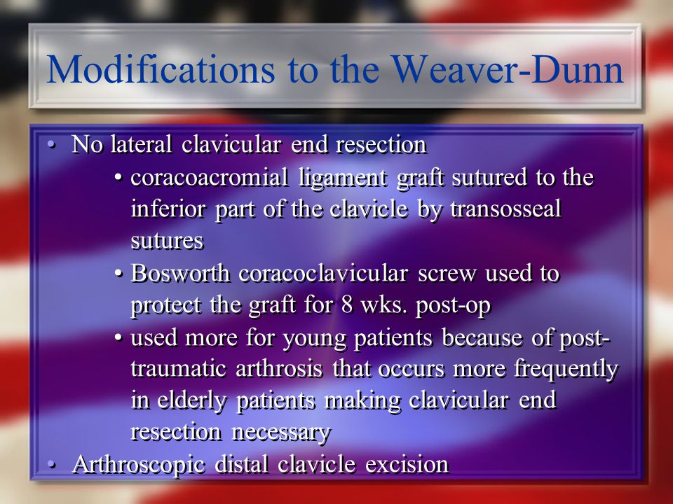 Modifications to the Weaver-Dunn