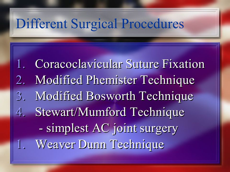 Different Surgical Procedures