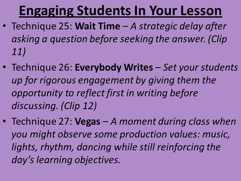 Engaging Students In Your Lesson