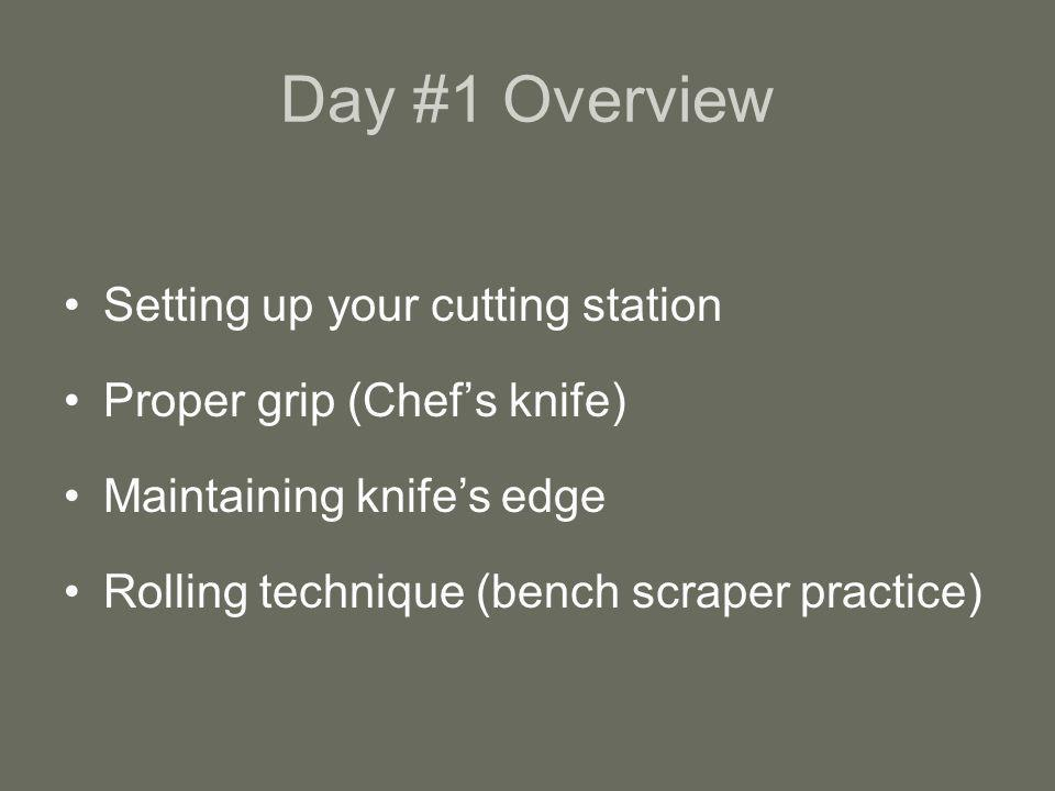 Day #1 Overview Setting up your cutting station