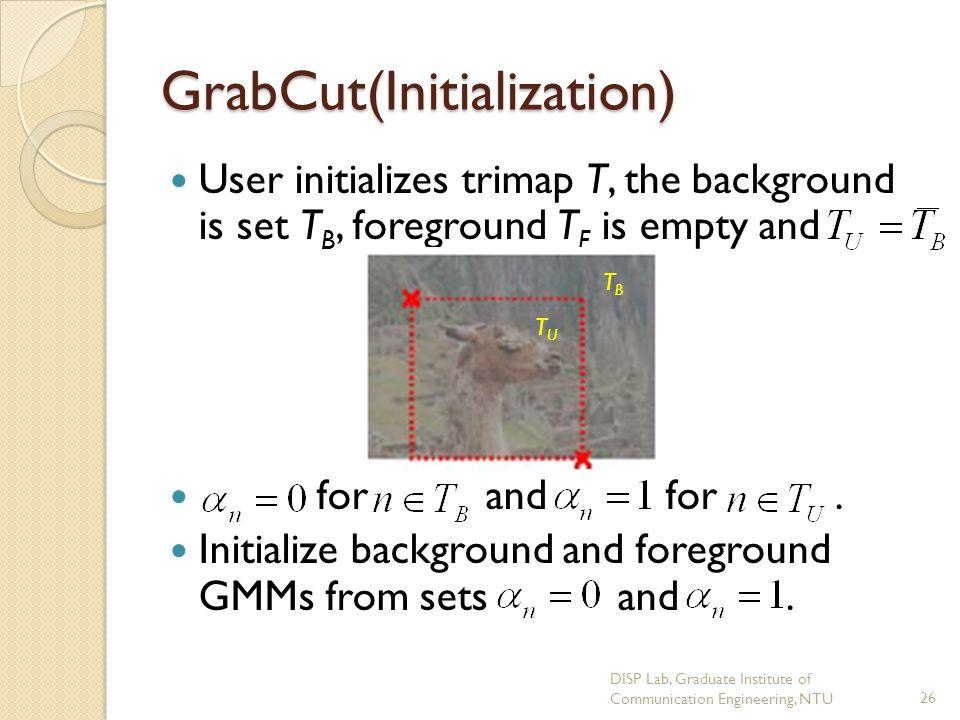GrabCut(Initialization)