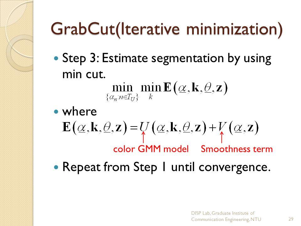 GrabCut(Iterative minimization)