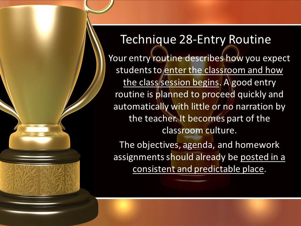 Technique 28-Entry Routine