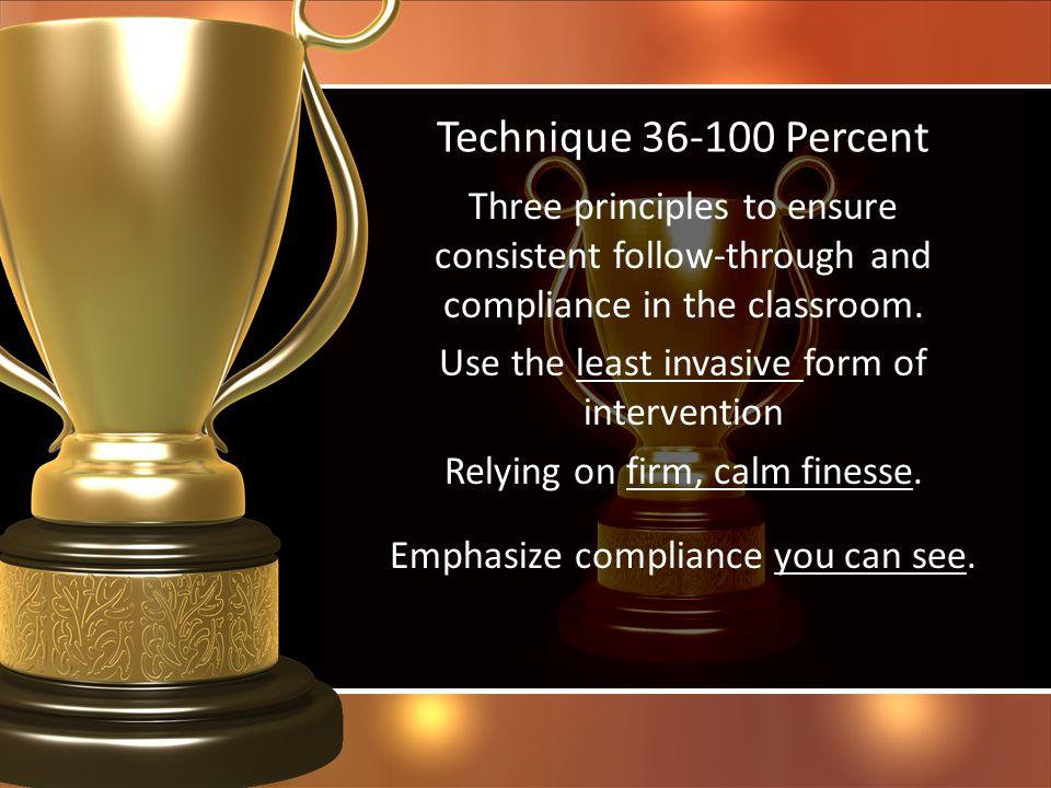 Technique 36-100 Percent