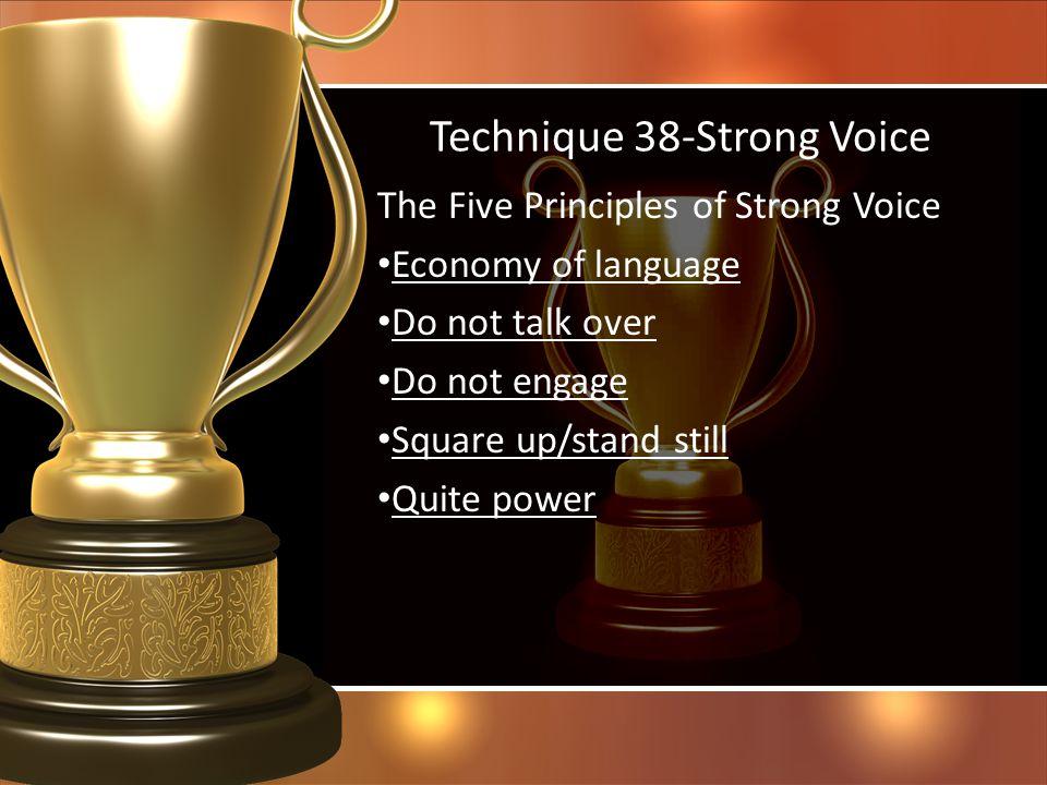 Technique 38-Strong Voice