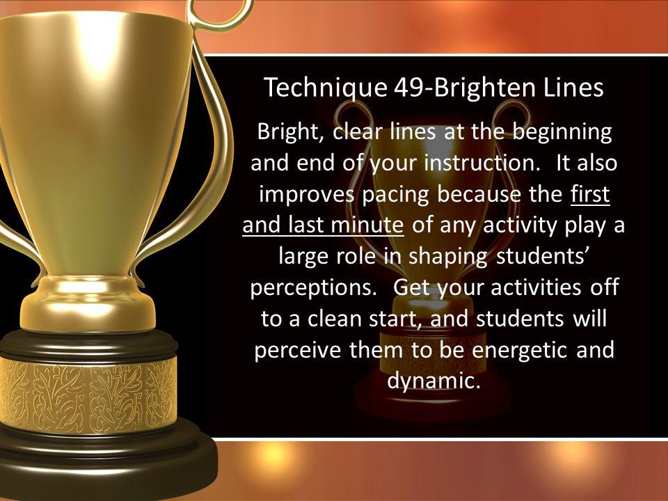 Technique 49-Brighten Lines