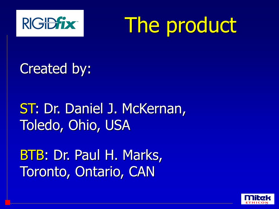 The product Created by: ST: Dr. Daniel J. McKernan, Toledo, Ohio, USA