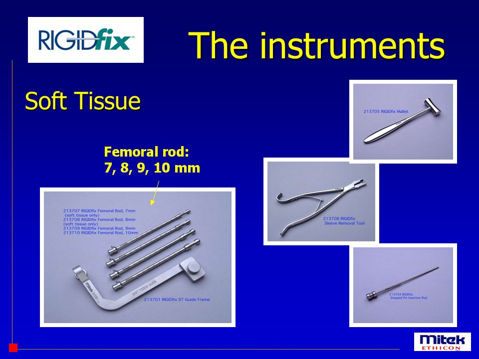 The instruments Soft Tissue