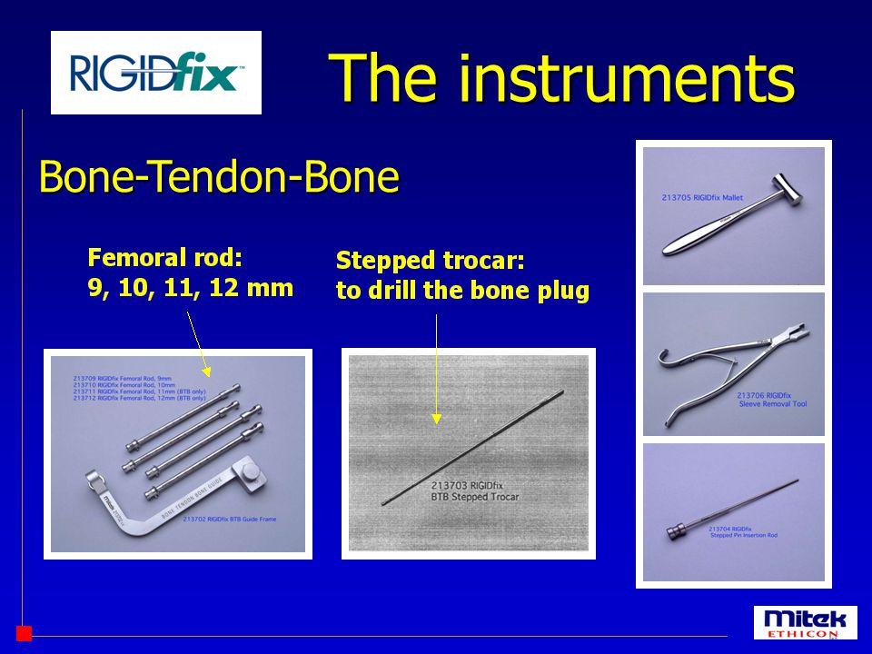 The instruments Bone-Tendon-Bone