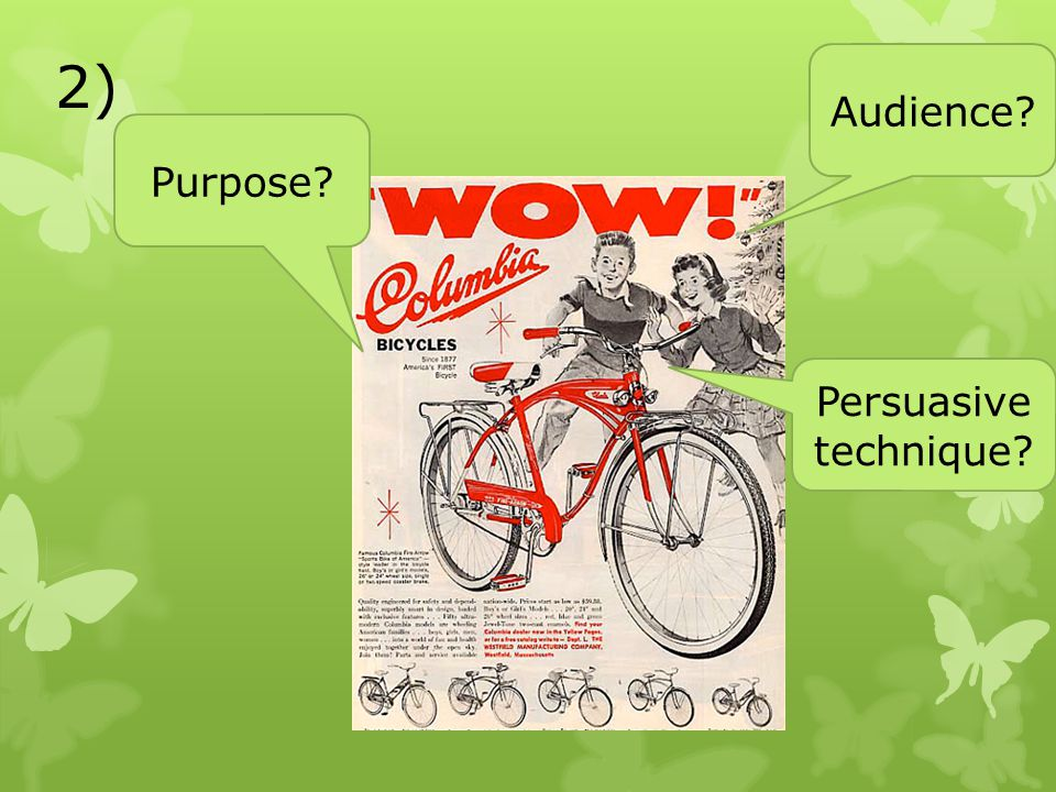 2) Audience Purpose Persuasive technique
