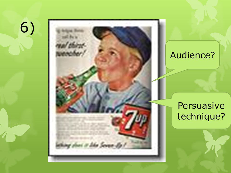 6) Audience Persuasive technique