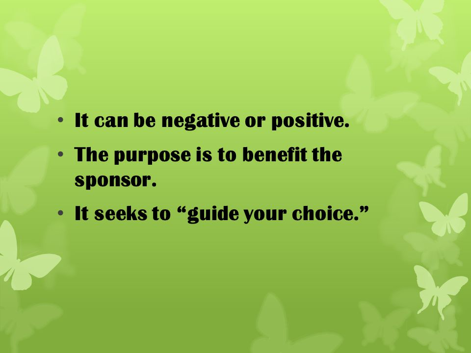 It can be negative or positive.