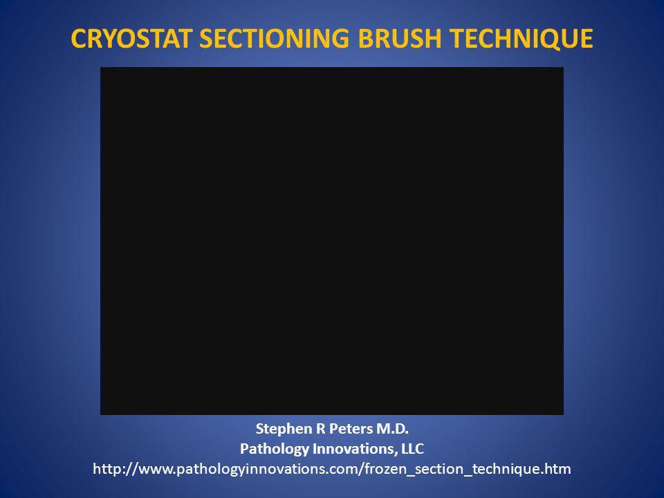 CRYOSTAT SECTIONING BRUSH TECHNIQUE