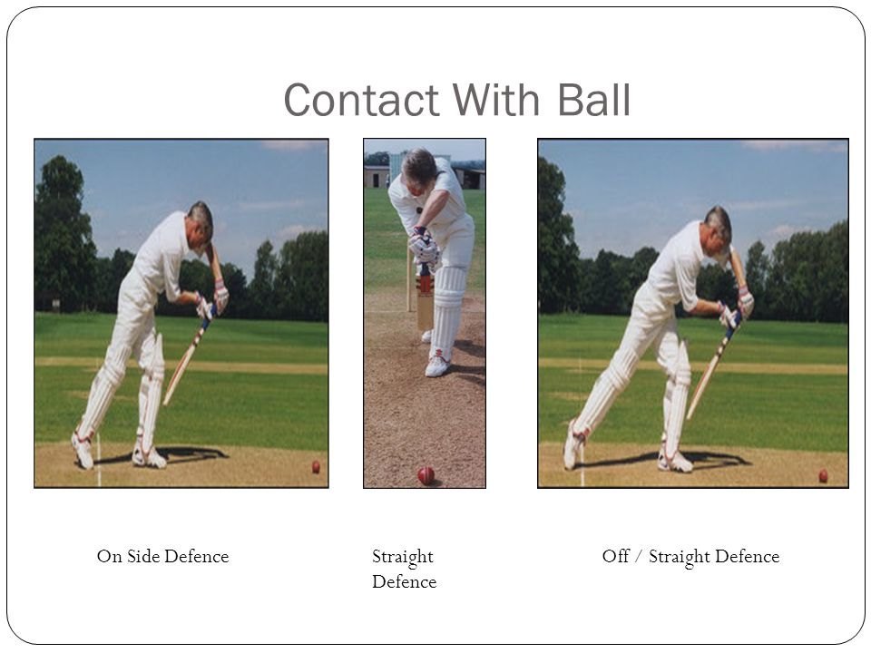 Contact With Ball On Side Defence Straight Defence