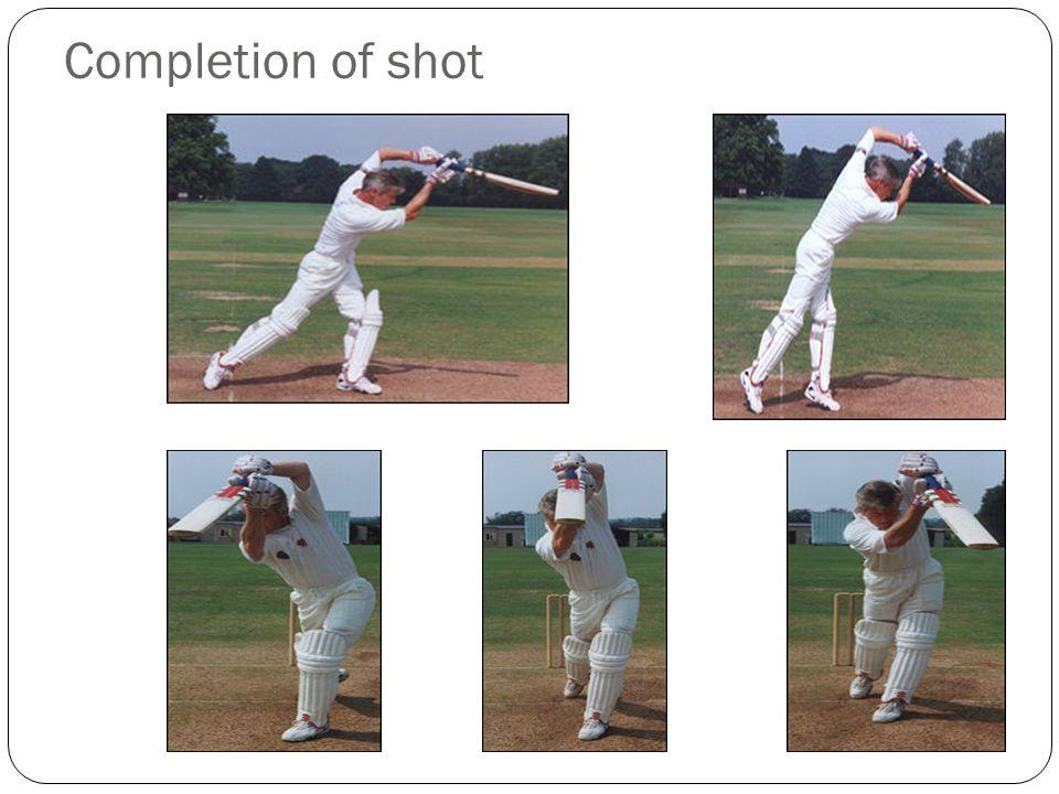 Completion of shot